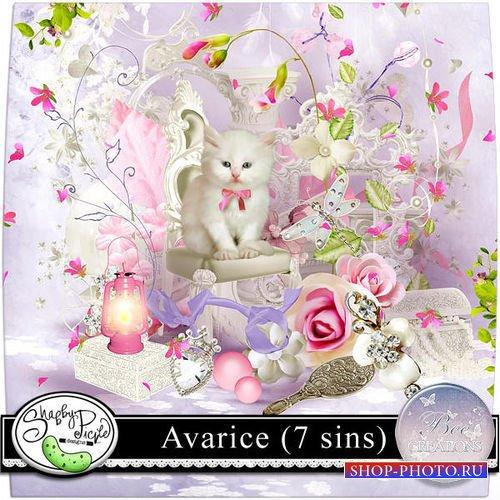 Цветочный скрап-комплект - Алчность