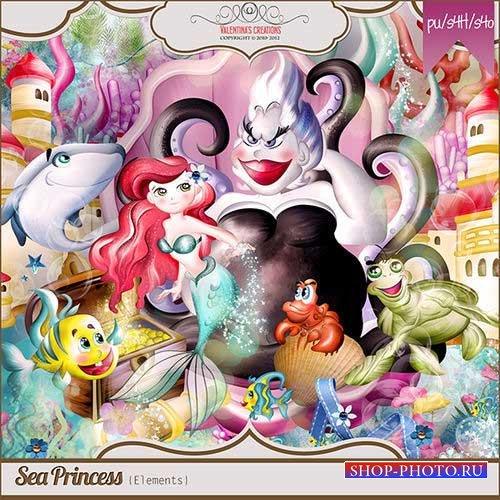 Сказочный морской скрап-комплект - Морская принцесса