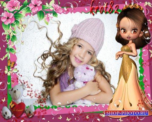 Фоторамка для девочек – Детство прекрасное время