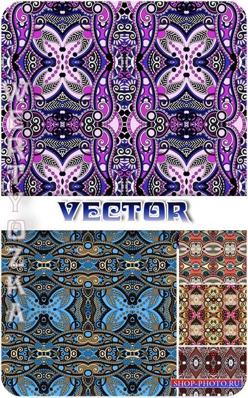 Векторные фоны с красочными узорами и орнаментами / Vector background