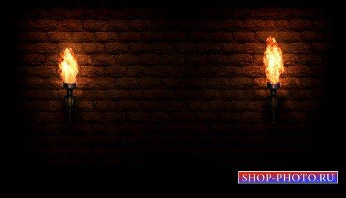 футаж Средневековые факелы (MOV)