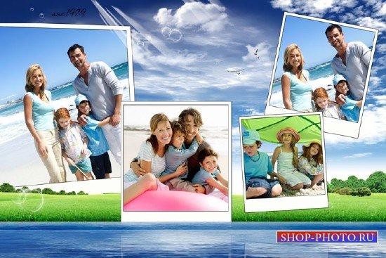 Рамка для фотошопа – На озере