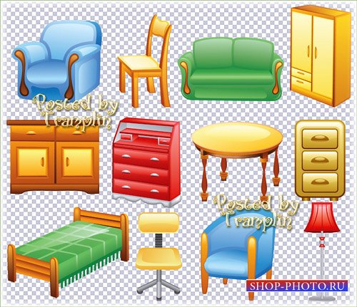 Детская мебель на прозрачном фоне