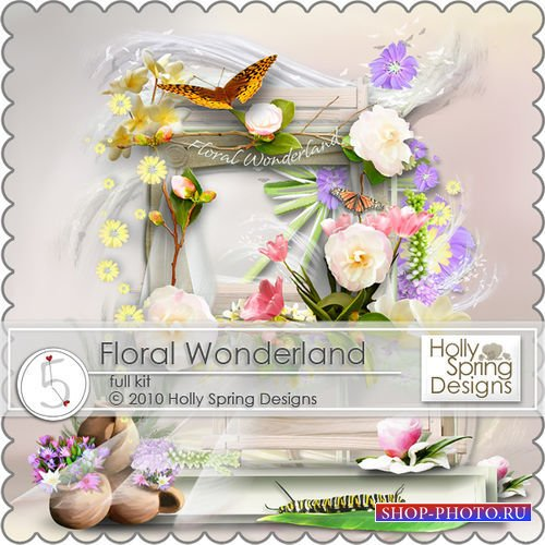 Нежный цветочный скрап-комплект - Цветочная страна чудес