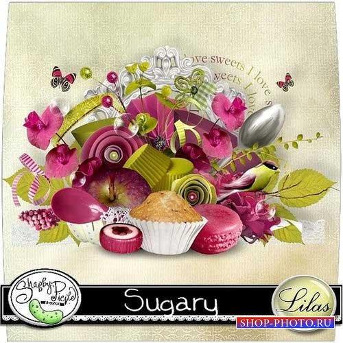 Кулинарный скрап-комплект - Сахарный
