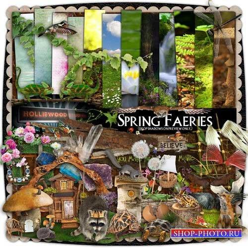 Большой весенний скрап-комплект - Весенняя сказка