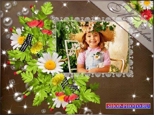 Рамка для photoshop - Летний букет
