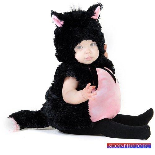 Шаблон для малышей - Милая кошечка