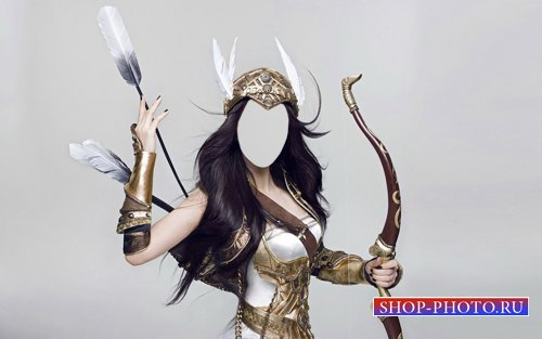 Женский шаблон - Бесстрашная девушка воин