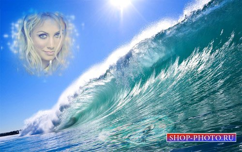 Рамка для фотошопа - Океанская волна