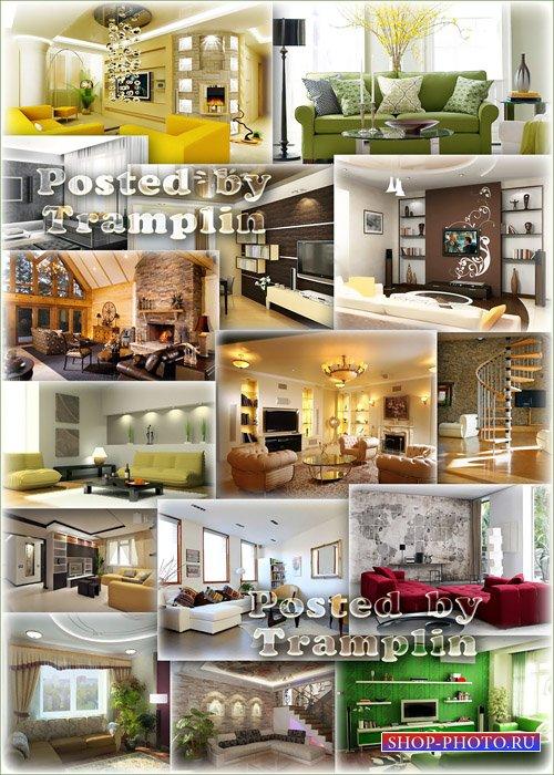 Современный креативный дизайн гостиной