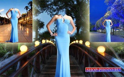 Шаблон женский - Вечернее прекрасное платье