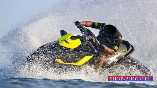 Шаблон для фотошопа - Развлечение на водном мотоцикле