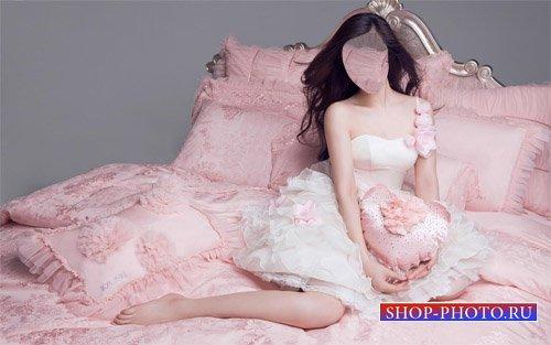 Шаблон для photoshop - Девушка и гламурная фотосессия