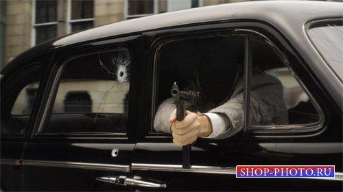 Шаблон для фото - Опасный гангстер
