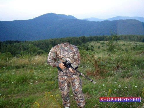 Шаблон для мужчин - Снайпер с винтовкой