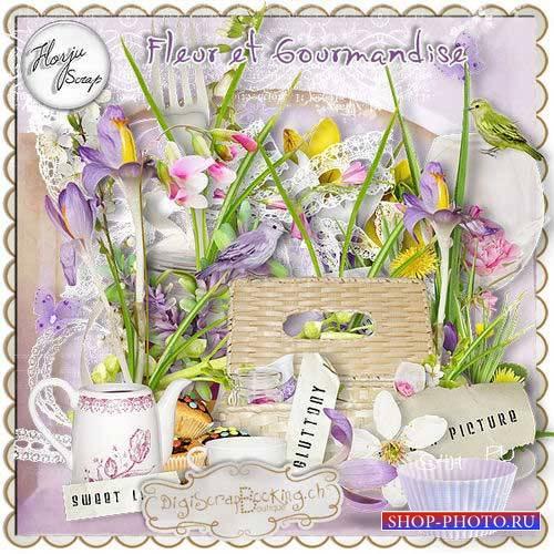 Великолепный цветочный скрап-комплект - Fleur et gourmandise