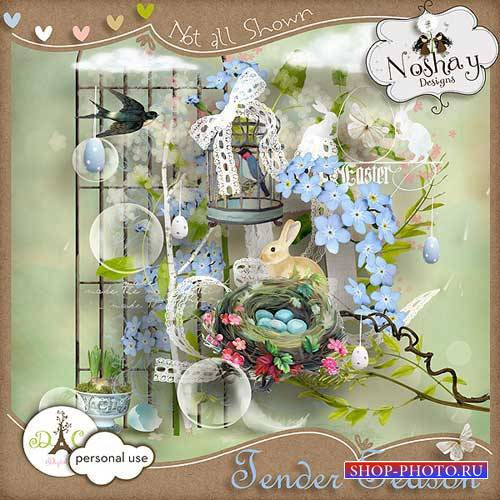 Весенний мини-скрап - Нежный сезон