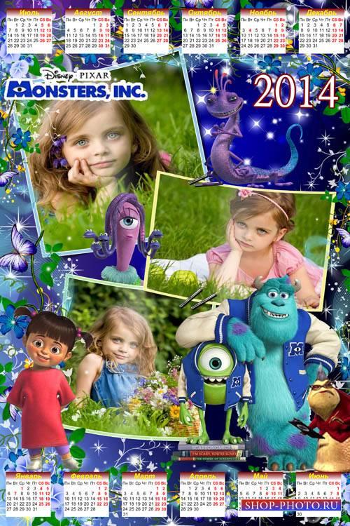 Детский календарь на 2014 год - Корпорация монстров