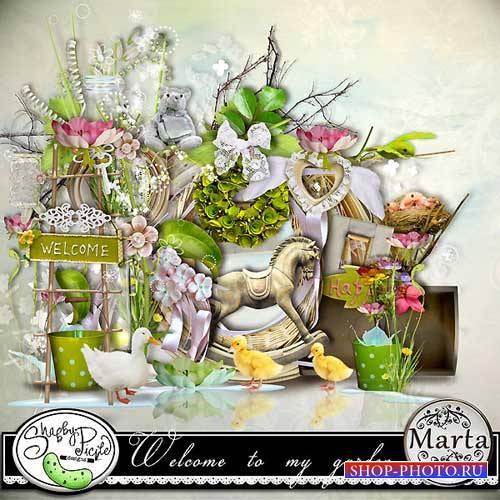 Цветочный скрап-комплект - Добро пожаловать в мой сад