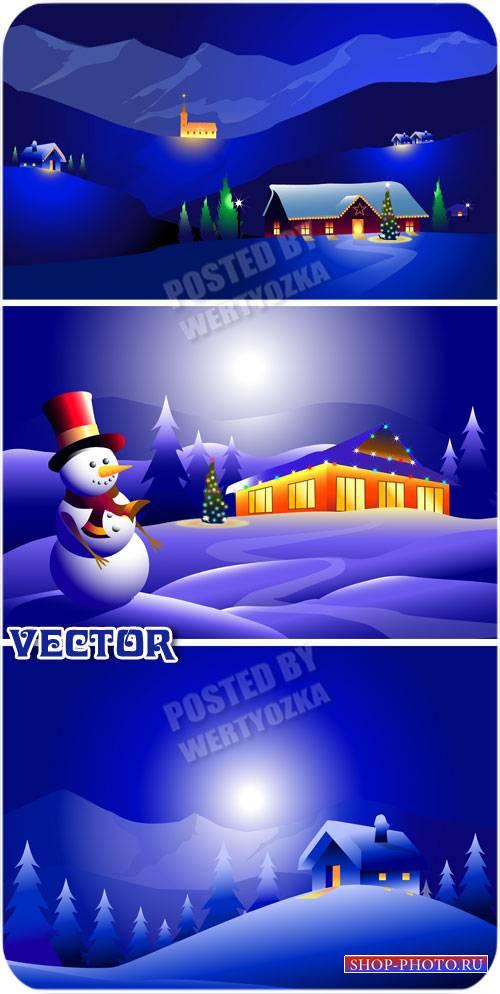 Снеговик и чудесная зимняя ночь / Snowman and a wonderful winter night - ve ...