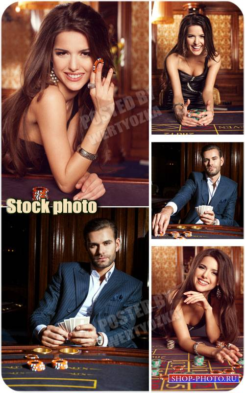 Казино, мужчина и женщина, азартные игры / Casino, a man and a woman, gambl ...