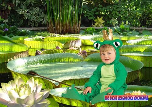 Шаблон  детский - Царевна лягушка