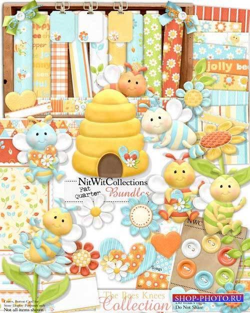 Забавный детский скрап-комплект - Пчёлки