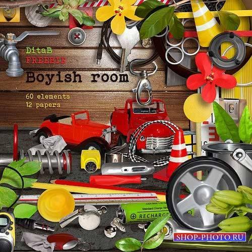 Яркий детский скрап-комплект для мальчишек - Мальчишеская комната