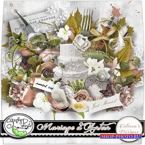 Роскошный свадебный скрап-комплект - Свадьбы прошлых лет