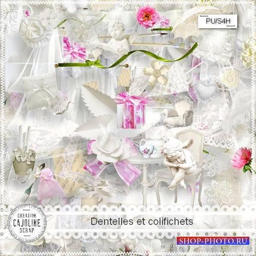 Нежный романтический скрап-комплект - Кружева и побрякушки