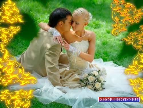 Прекрасный футаж романтический - Золотые переливы