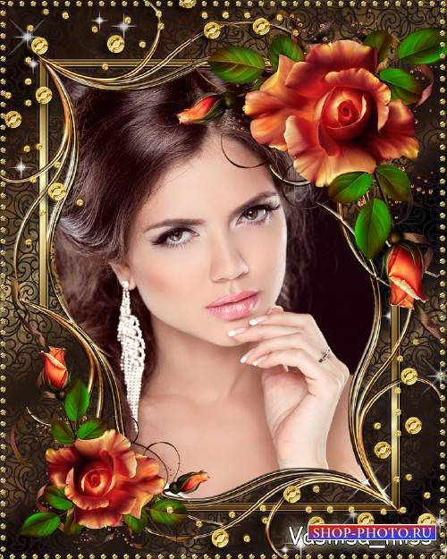 Цветочная рамка - Великолепие осенних роз