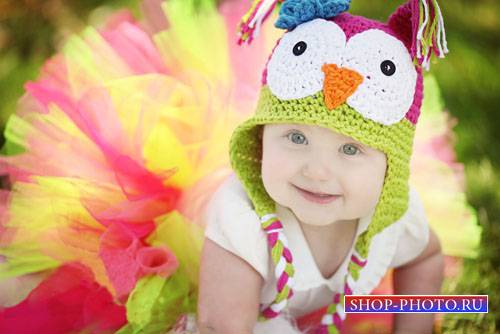 Шаблон детский - Модная девочка в красивой юбке