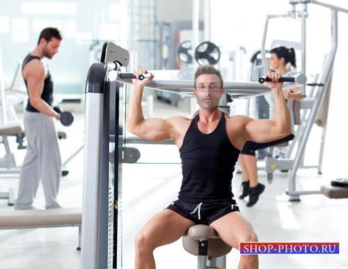Шаблон для мужчин - Качок на тренировке