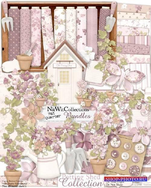 Цветочный скрап-комплект - Тепличка