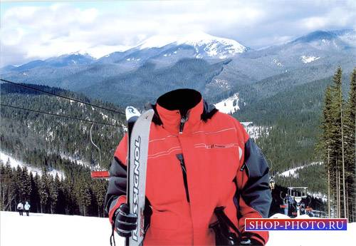 Шаблон для мужчин - Катание на лыжах в Буковеле