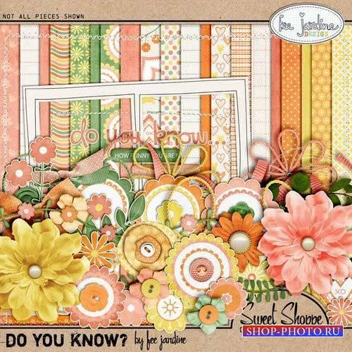 Цветочный скрап-комплект - Знаете ли Вы?