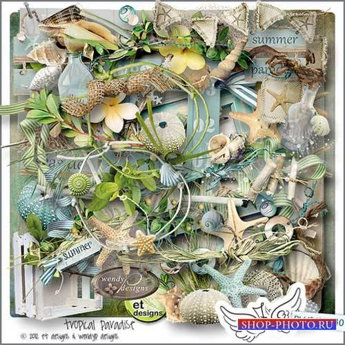 Морской скрап-комплект - Тропический рай