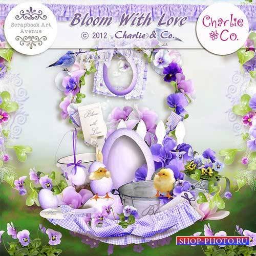 Цветочный скрап-комплект - Расцветая с любовью
