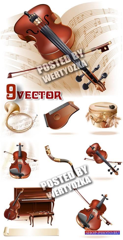 Музыкальные инструменты / Musical instruments - vector stock