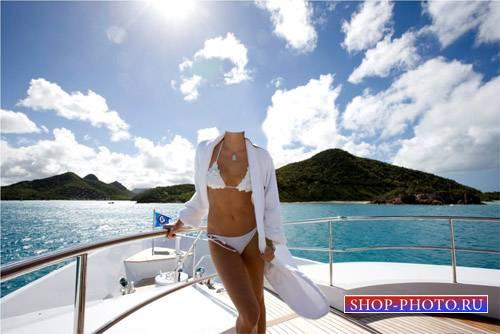 Шаблон для photoshop - Отдых на яхте