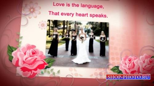 Проект - Wedding Album Red Roses для After Effects