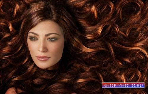 Шаблон для photoshop - Обворожительные волосы