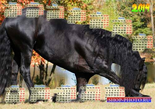 Календарь - Восхитительная лошадь кланяется