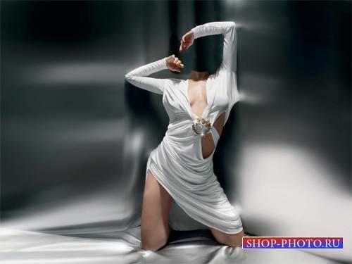 Шаблон для фотошопа - Фотосессия в вечернем платье