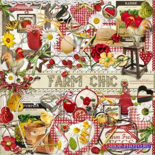 Яркий летний скрап-комплект - Шикарная ферма