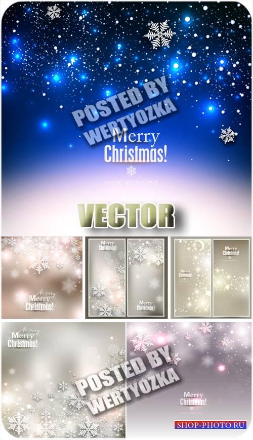 Новогодние фоны с звездами и снежинками / Christmas background with stars - ...