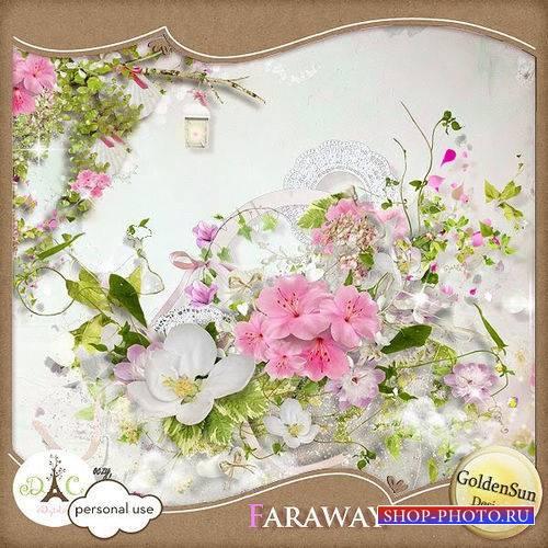 Нежный цветочный скрап-комплект - Faraway