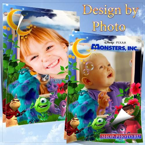 Детская рамка с героями м/ф Корпорация монстров